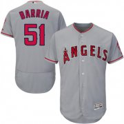 Wholesale Cheap Angels of Anaheim #51 Jaime Barria Grey Flexbase Authentic Collection Stitched MLB Jersey