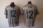 Wholesale Cheap Nike Seahawks #12 Fan Grey Shadow Men's Stitched NFL Elite Jersey