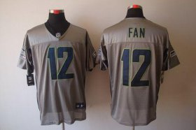 Wholesale Cheap Nike Seahawks #12 Fan Grey Shadow Men\'s Stitched NFL Elite Jersey