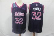 Wholesale Cheap Minnesota Timberwolves 32 Karl-Anthony Towns Nike Purple 2019 Swingman City Edition Jersey