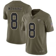 Wholesale Cheap Nike Saints #8 Archie Manning Olive Men's Stitched NFL Limited 2017 Salute To Service Jersey