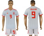 Wholesale Cheap Spain #9 Callejon Away Soccer Country Jersey