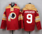 Wholesale Cheap Nike Redskins #9 Sonny Jurgensen Burgundy Red Player Pullover NFL Hoodie