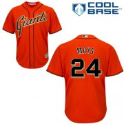 Wholesale Cheap Giants #24 Willie Mays Orange Alternate Cool Base Stitched Youth MLB Jersey
