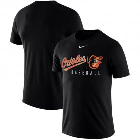 Wholesale Cheap Baltimore Orioles Nike MLB Practice T-Shirt Black