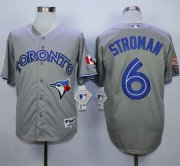 Wholesale Cheap Blue Jays #6 Marcus Stroman Grey Stitched MLB Jersey