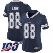 Wholesale Cheap Nike Cowboys #88 CeeDee Lamb Navy Blue Team Color Women's Stitched NFL 100th Season Vapor Untouchable Limited Jersey