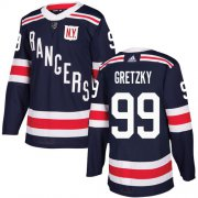 Wholesale Cheap Adidas Rangers #99 Wayne Gretzky Navy Blue Authentic 2018 Winter Classic Stitched Youth NHL Jersey
