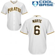 Wholesale Cheap Pirates #6 Starling Marte White Cool Base Stitched Youth MLB Jersey