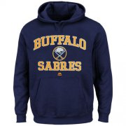 Wholesale Cheap Buffalo Sabres Majestic Heart & Soul Hoodie Navy Blue