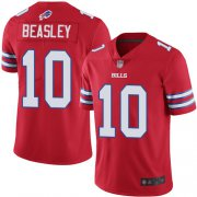 Wholesale Cheap Nike Bills #10 Cole Beasley Red Men's Stitched NFL Limited Rush Jersey