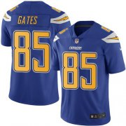 Wholesale Cheap Nike Chargers #85 Antonio Gates Electric Blue Men's Stitched NFL Limited Rush Jersey