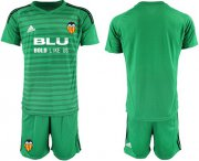 Wholesale Cheap Valencia Blank Green Goalkeeper Soccer Club Jersey