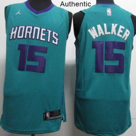 Wholesale Cheap Nike Charlotte Hornets #15 Kemba Walker Teal NBA Jordan Authentic Icon Edition Jersey