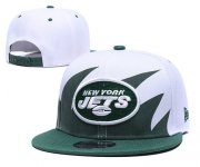Wholesale Cheap Jets Team Logo Green White Adjustable Hat GS