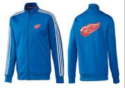 Wholesale Cheap NHL Detroit Red Wings Zip Jackets Blue-2
