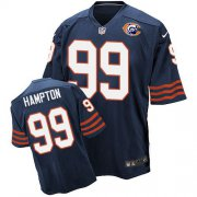Wholesale Nike Bears #99 Dan Hampton Navy Blue Throwback Men's Stitched NFL Elite Jersey
