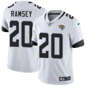 Wholesale Cheap Nike Jaguars #20 Jalen Ramsey White Men's Stitched NFL Vapor Untouchable Limited Jersey
