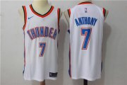 Wholesale Cheap Men's Oklahoma City Thunder #7 Carmelo Anthony New White 2017-2018 Nike Swingman Stitched NBA Jersey