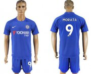 Wholesale Cheap Chelsea #9 Morata Home Soccer Club Jersey