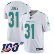 Wholesale Cheap Nike Dolphins #31 Byron Jones White Youth Stitched NFL 100th Season Vapor Untouchable Limited Jersey