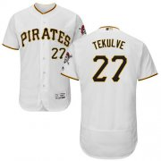 Wholesale Cheap Pirates #27 Kent Tekulve White Flexbase Authentic Collection Stitched MLB Jersey