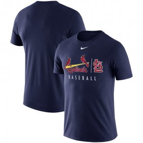 Wholesale Cheap St. Louis Cardinals Nike MLB Practice T-Shirt Navy
