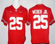 Wholesale Cheap Men's Ohio State Buckeyes #25 Mike Weber Jr. Red Stitched College Football Nike NCAA Jersey