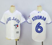 Wholesale Cheap Blue Jays #6 Marcus Stroman White Cool Base Stitched Youth MLB Jersey