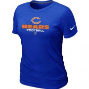 Wholesale Cheap Women's Nike Chicago Bears Critical Victory NFL T-Shirt Blue