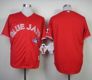Wholesale Cheap Blue Jays Blank Red Canada Day Stitched MLB Jersey