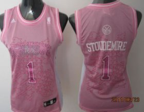 Wholesale Cheap New York Knicks #1 Amare Stoudemire Pink Womens Jersey