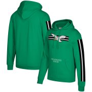 Wholesale Cheap Philadelphia Eagles Mitchell & Ness Three Stripe Pullover Hoodie Green