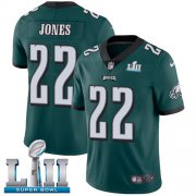 Wholesale Cheap Nike Eagles #22 Sidney Jones Midnight Green Team Color Super Bowl LII Men's Stitched NFL Vapor Untouchable Limited Jersey