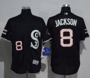 Wholesale Cheap White Sox #8 Bo Jackson Black New Flexbase Authentic Collection Stitched MLB Jersey