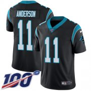 Wholesale Cheap Nike Panthers #11 Robby Anderson Black Team Color Men's Stitched NFL 100th Season Vapor Untouchable Limited Jersey