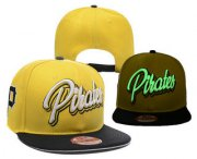 Wholesale Cheap MLB Pittsburgh Pirates Snapback Ajustable Cap Hat