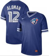 Wholesale Cheap Nike Blue Jays #12 Roberto Alomar Royal Authentic Cooperstown Collection Stitched MLB Jersey