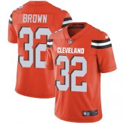 Wholesale Cheap Nike Browns #32 Jim Brown Orange Alternate Youth Stitched NFL Vapor Untouchable Limited Jersey