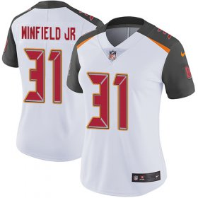 Wholesale Cheap Nike Buccaneers #31 Antoine Winfield Jr. White Women\'s Stitched NFL Vapor Untouchable Limited Jersey
