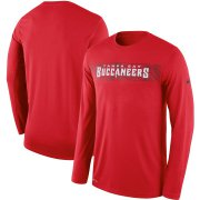 Wholesale Cheap Tampa Bay Buccaneers Nike Sideline Seismic Legend Long Sleeve T-Shirt Red