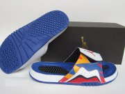 Wholesale Cheap Air Jordan 7 Sandals Shoes Blue/Multi-Color