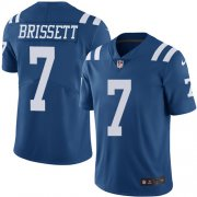 Wholesale Cheap Nike Colts #7 Jacoby Brissett Royal Blue Youth Stitched NFL Limited Rush Jersey
