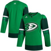 Wholesale Cheap Anaheim Ducks Blank Men's Adidas 2020 St. Patrick's Day Stitched NHL Jersey Green