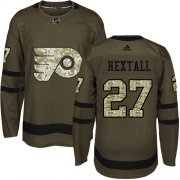 Wholesale Cheap Adidas Flyers #27 Ron Hextall Green Salute to Service Stitched Youth NHL Jersey