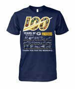 Wholesale Cheap Green Bay Packers 100 Seasons Memories T-Shirt Dark Blue