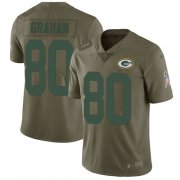 Wholesale Cheap Nike Packers #80 Jimmy Graham Olive Youth Stitched NFL Limited 2017 Salute to Service Jersey