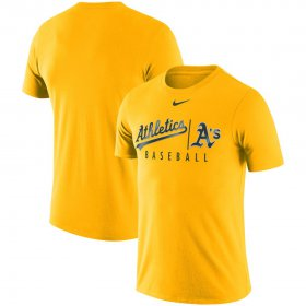 Wholesale Cheap Oakland Athletics Nike MLB Practice T-Shirt Gold