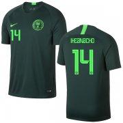 Wholesale Cheap Nigeria #14 Iheanacho Away Soccer Country Jersey