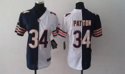 Wholesale Cheap Nike Bears #34 Walter Payton Navy Blue/White Women's Stitched NFL Elite Split Jersey